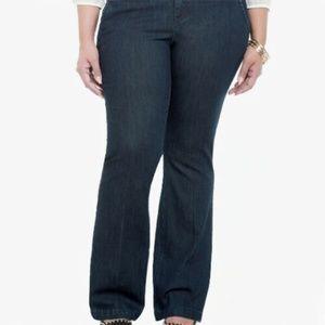 NEW Torrid Flare Leg Dark Wash Trouser Jeans 12